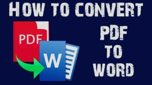 How to convert PDF to Word (Free) 2021